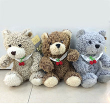 25CM Cute Teddy Bear Stuffed Toys Cherry Teddy Bears Soft Toys Baby Children Kids Gifts 3 Colors