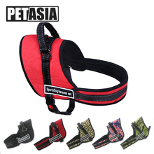 PETASIA Best Quality Pet Dog harness Vest Pet dog Chain leash Collar Supplier Product 5 Size Nylon for pet dog Small Large Dog(China)