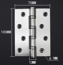 "2Pcs/Lot  4"" *3"" * 3MM Ball Bearing Hinges in Stainless Steel"