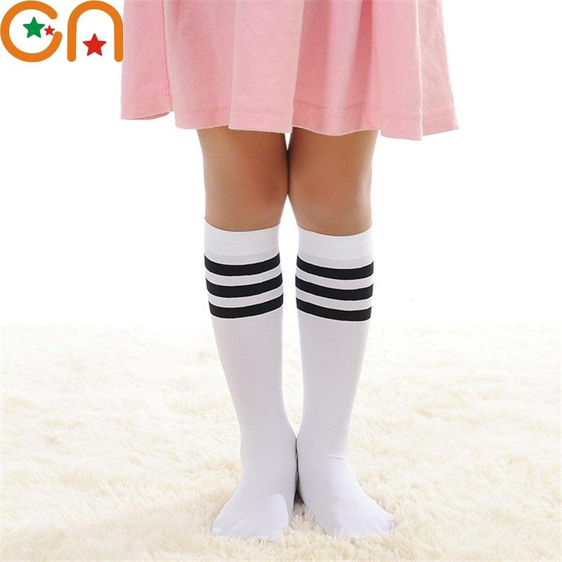 Baby Kids Girls Bowknot Knee High Long Soft Warm Cotton School Socks 2-6 Years