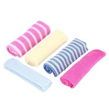 5 Pcs New Hotborn Children Colorful Soft Baby Bath Towels Washcloth For Feeding Bathing Hot Selling(China)