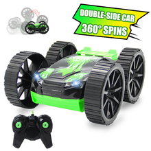 RC Car 4CH Double-Side RC Drift Car Rock Crawlers Rolling Remote Buggy Cars With Radio Remote Controller Controlled Cars Auto RC(China)