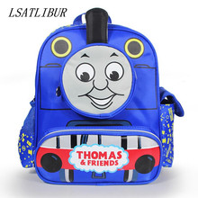 HOT SALE 2017 cute children cartoon bag school bag pattern Thomas children backpacks lovely bady school bag free shipping(China)
