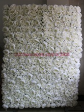 Ivory 10pcs/ lot Artifical rose peony flower wall wedding background decoration road lead market decoration TONGFENG(China)