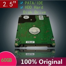 "USED OLD HDD 2.5"" 60GB IDE Laptop Hard Drive 60G PATA Hard Disk Drive interno Disco Duro Hot Selling"