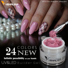 #60930 CANNI New Product 24 Colors Hard Gel 30ml LED/UV Gel Nail Art DIY Nail Gel Builder Jelly Gel