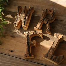 10cm height wooden letters crafts retro wood wall decor bar pub office wedding party vintage home decor alphabet artcraft A~Z