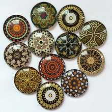 ZEROUP Round Glass Cabochon 12mm Mixed Pattern Handmade Diy embellishments Supplies for jewelry clasps craft 50pcs TP-383
