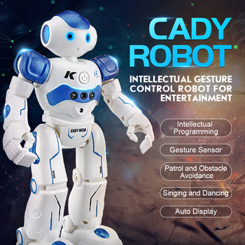 JJRC R2 RC Robot 2.4G Intelligent Programming Gesture Sensor Singing Dancing Candy Action Figure Robot Toy for kid