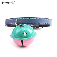 Cute Lovely Bling Cat Dog Collar With Big Bell For Puppy Small Pet Top Quality Pu Leather Necklace bell Pet Products Accessories