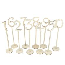 Buy 10pcs 1-10 Wooden Table Numbers Set Base Wedding Birthday Party Decor Gifts Wooden Table Decor Wedding for $6.50 in AliExpress store