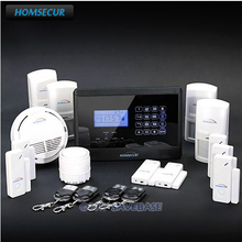 HOMSECUR(Support Espanol/Deutsch/Francais/EN Voice)Wireless&Wired GSM Security System Alarm Home Burglar Alarm+Fire/Smoke Sensor(China)