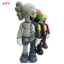 16 Inch Originalfake KAWS Dissected Companion Open Edition Art Fashion Toy Original Fake With Red Retail Box Decoration A118