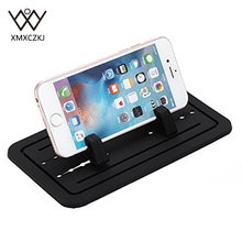 Car Mount Silicone Pad Non-slip Mat Phone Car Holder Stand Cradle Dock For Phone Samsung S5/S4/S3/ iPhone 4/5/5s/6/6S ND-UCH019(China)