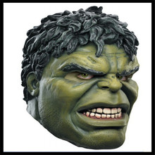 Free shipping Halloween Cosplay Party Mask Horror Mystery Man Movies Mask The Incredible Hulk Mask Top Grade Latex The Hulk Cap