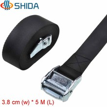1 PCS 1.5 inch 3.8cm * 5Meters Metal Cargo Lashing Polyester Webbing Strap Ratchet Tie Down with Cam Buckle Winch Strap(China)