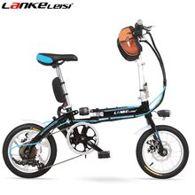 TS1.4 14 inches Mini High-Carbon Steel Folding Electric Bicycle, 240W, 6 Speed, Soft-tail Bike, Both Mechanical Disc Brake, .(China)