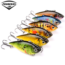 "6PC Top Quality New design Painting Fishing lures 2.5""/8.64g Vib Pencil Bait 6 color Crankbait Fishing Tackle"