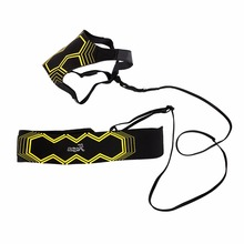 Football Trainer Sports Assistance Adjustable Soccer Ball Practice Belt Training Equipment Kick Soccer Traine(China)