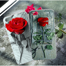 For Apple iPhone 5S SE 6 6S 7 / iPod Touch 6 Luruxy Rose Flower Silicone Cover 3D Relief Skin Phone Cases For iPhone 6 6S 7 Plus