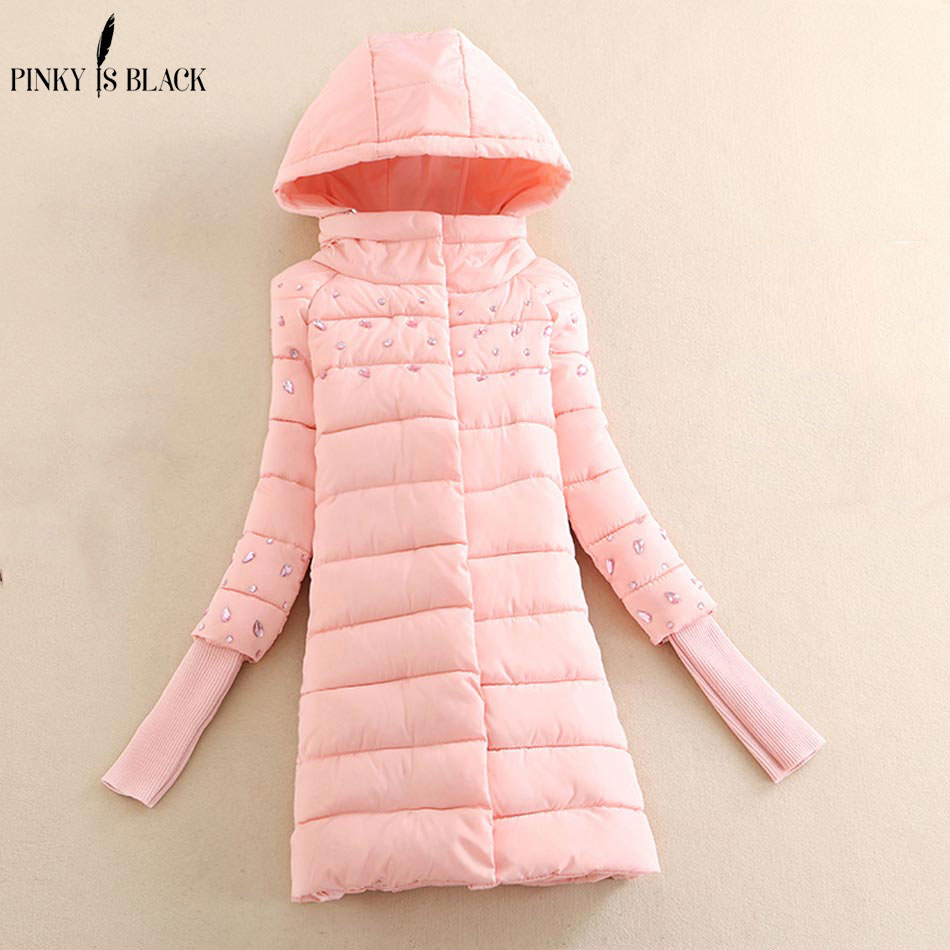 Pinky Is Black 2017 winter jacket women crystal jacket women winter coat warm outwear diamond cotton Jacket coat Women ClothingÎäåæäà è àêñåññóàðû<br><br>
