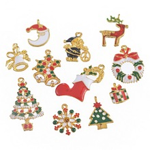 Hoomall Christmas Tree Decorations 11PCs Mixed Christmas Pendants Santa Claus Snowman Snowflake Christmas Tree Ornaments navidad