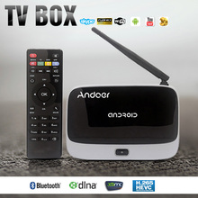 Smart Android TV Box 1080P Android4.4 Rockchip RK3128 Quad Core Cortex 2/16G H.265 XBMC WiFi DLNA Airplay Miracast Bluetooth 4.0