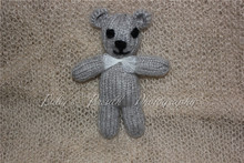 Knitted Teddy Bear Crochet Mohair Yarn Bear Knit Bear Photo Prop(China)