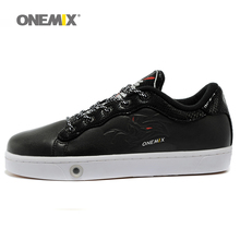 onemix men's skateboarding shoes outdoor sport walking shoes for man running shoes breathable athletic shoes in black(China)