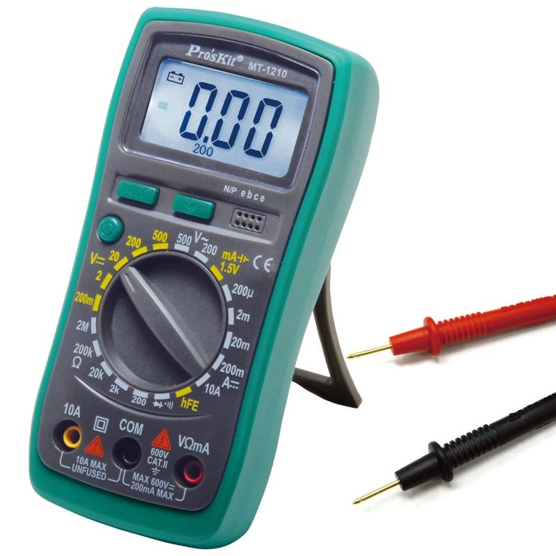 Proskit NT-1210 Manual Range AC DC Voltage DC current multimeter Tester 200mV-500V digital multimeter tester<br><br>Aliexpress