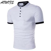 6640821f7b 2018 dos homens Camisa Pólo de Algodão Sólida Camisa Gola Polo de Manga  Curta Camisa Polo Da Marca Dos Homens Novos Tops