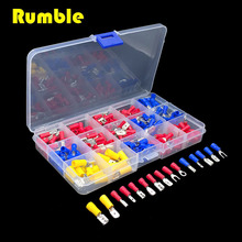 280Pcs 2.8-6.3mm Assorted Insulated Spade Wire Crimp Terminal Electrical Cable Connector Hand DIY Repair Tool Terminals Kit Set