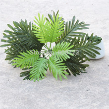 50cm 3pcs 18 Leaf Artificial Phoenix Sago Coconut  Palm Plant Tree Christmas Wedding Home Decor Fake Foliage Green FL1515
