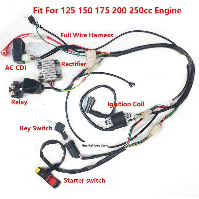 motorcycle full wire harness ac cdi relay for cg125 150cc ignition simple motorcycle wiring diagram tutorial motorcycle wiring 101 bike exif