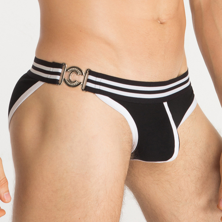 MIBOER gay men underwear super sexy waist Jitu side ring men's underwear bag calzoncillos371 stereo triangle