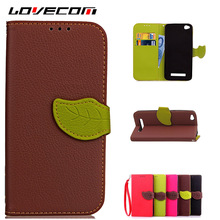 LOVECOM For Coque Xiaomi Redmi 4A Luxury Leaf Wallet PU Leather + Soft Silicone Case Stand Flip Card Hold Phone Back Cover Bags