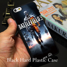 Cool Battlefield 3 Game Graphic Logo Hard Black Phone Case for iPhone 7 6 6S Plus 4 4S 5C 5 SE 5S Cover