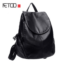 AETOO Backpack female Korean version of the new wave of 2010 simple fashion travel bag large capacity package soft leather femal