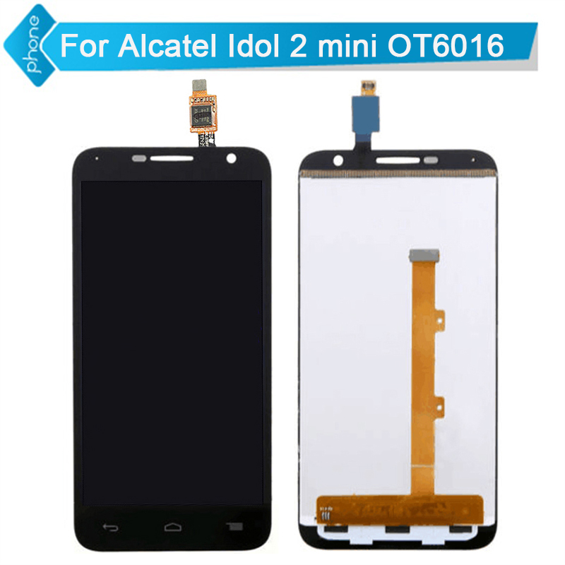 For Alcatel Idol 2 Mini OT6016 6016 LCD Display Touch Screen Digitizer Assembly black white<br><br>Aliexpress