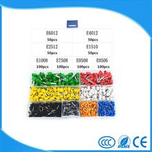 E0506~E6012 Insulated End Terminal Wire Copper Crimp Connector 8Model 8Color Kit Box 700pcs(China)