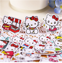 40pcs Creative Cute Self-made  Cute hello kitty / kt stickers/Scrapbooking Stickers /Decorative Sticker /DIY Craft Photo Albums