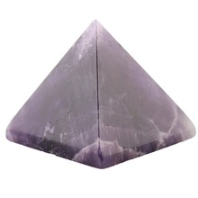 Assorted 40mm Pyramid Black Obsidian Fluorite pink quartz Natural Stone Carved Point Chakra Healing Reiki Crystal Free pouch