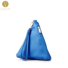TRIANGULAR PYRAMID WRISTLET CLUTCH - Women's PU Leather Triangle Shape Vintage Fashion Stylish Design Small Casual Bag Purse(China)