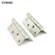 High quality Stainless steel heavy duty door hinge extra-thick 4*3*3 inch cabinet door hinges 5 Pairs/Lot