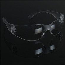 1 PCS Safety Glasses Lab Eye Protection Protective Eyewear Clear Lens Workplace Safety Goggles Supplies(China)
