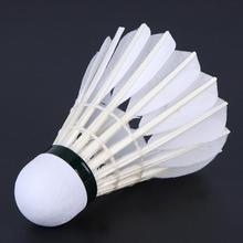 Professional 12 PCS Goose Feather Badminton Ball Middle and High Ranking Player Gym Training Supply Badminton Ball Elastic Balls(China)