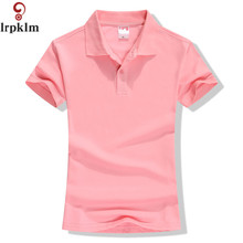 New 2018 Summer Brand Solid Polo Women Shirt Slim Short Sleeve camisa polo shirt polo femme Women 캐주얼 Shirts 옷 YY417(China)