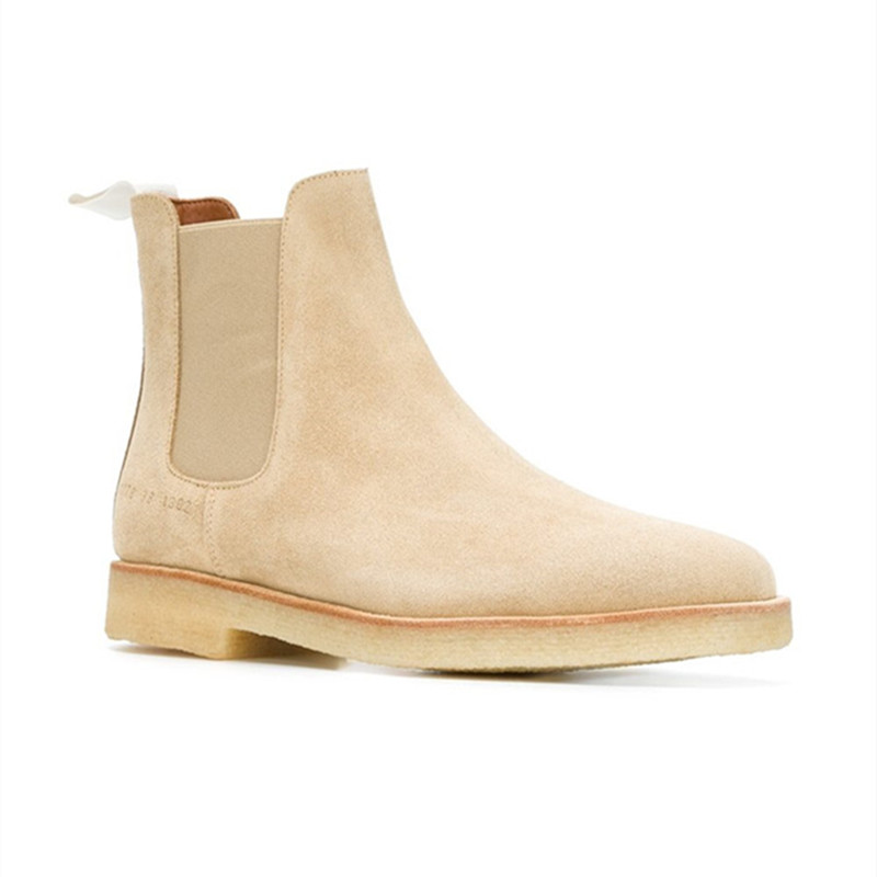 Male Mens Chelsea Boots Leather 1:1 Style Euro 37-46 Shoes Fur Handmade Kanye West Boots Casual Platform High Mens Shoes Botas<br><br>Aliexpress