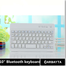 RUSSIAN Bluetooth KEYBOARD 10 inch tablet keyboard for Using Espana Language Micro USB Keyboard to Plate Tablet Device(China)