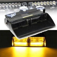 16 Led Flash Boat Truck Car Flashing Warning Emergency Windshield Unit Strobe Light Lamp Amber Work Lights 12v